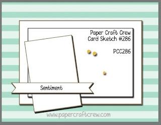Paper Craft Crew Card Sketch Challenge #PCC286