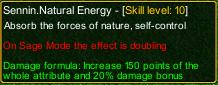 naruto castle defense 6.0 Sennin Natural Energy