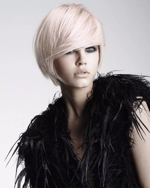 simple paste pink hairstyles