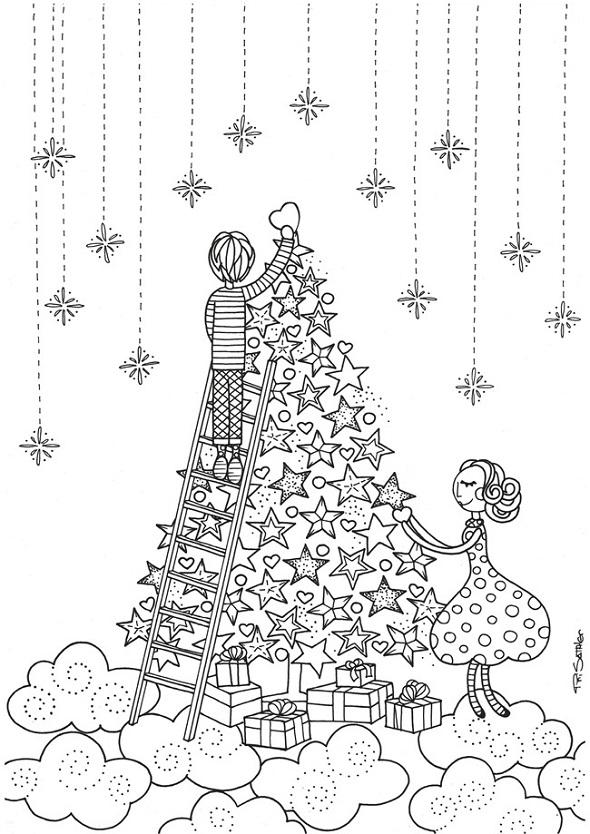navidad, plantillas colorear, manualidades, láminas colorear