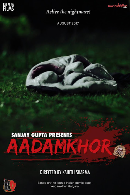 Official Poster of Raj Comics Web Film Aadamkhor The Cannibal