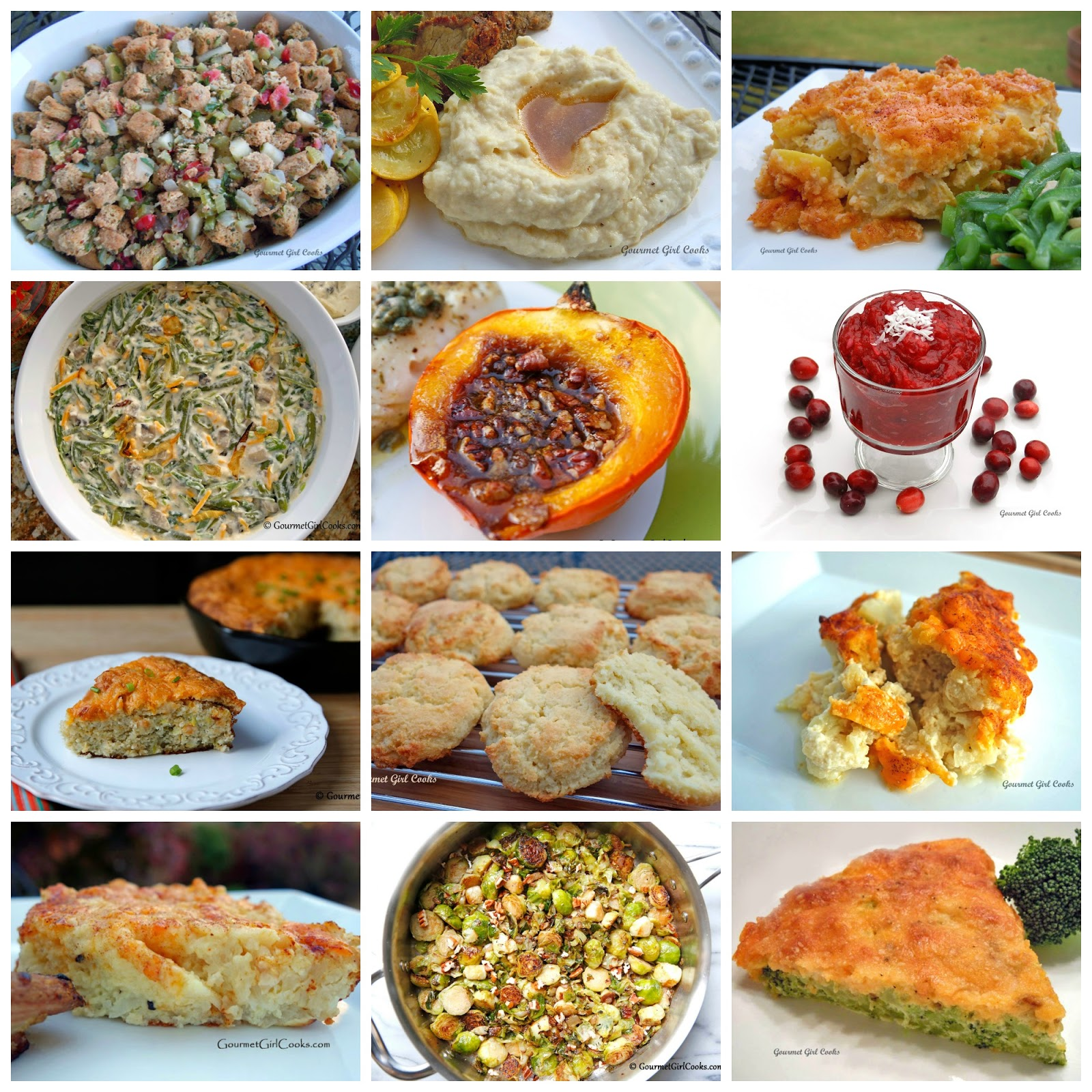 Sode Dishes: Gourmet Girl Cooks: 12 Thanksgiving Side Dish Recipes
