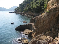 Lerici cliffs on the Gulf of the Poets