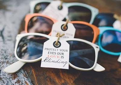 Gafas de sol para los invitados de boda de verano o al aire libre