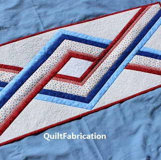 DIAMOND QUILT-TABLE RUNNER-PATRIOTIC-HOME DECOR-Quilt Pattern