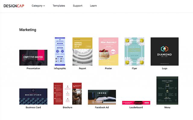 Tự thiết kế poster, logo, menu,…cực đơn giản với Designcap