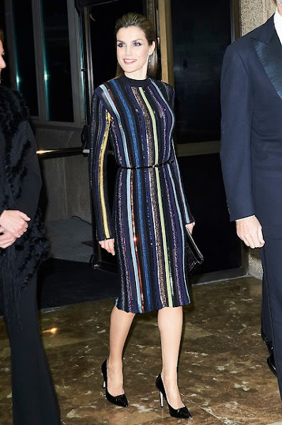 Queen Letizia wears Nina Ricci dress from Resort 2017 Collection, Prada pumps