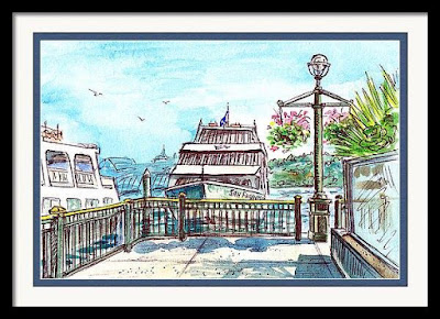 Bestselling Watercolor Painting of San Francisco Boat