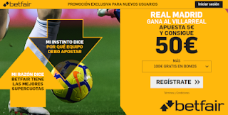 betfair supercuota Real Madrid gana a Villarreal 1 septiembre 2019