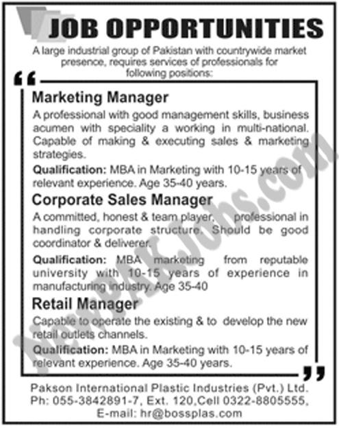latest-jobs-in-pakson-international-plastic-industries-for-marketing--sales-management