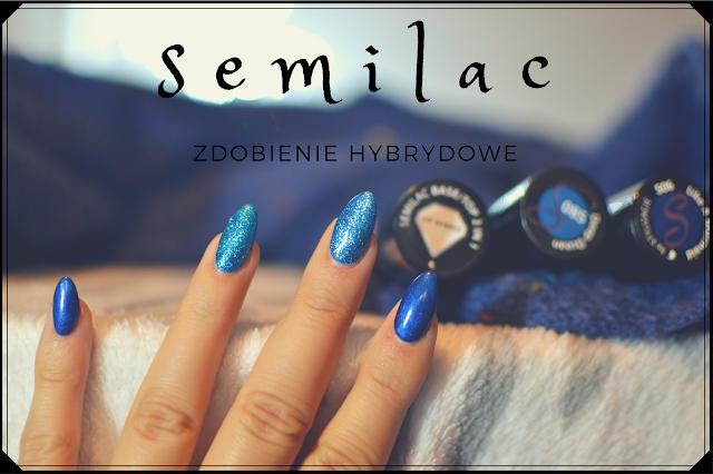 Zdobienie hybrydowe SEMILAC - blue