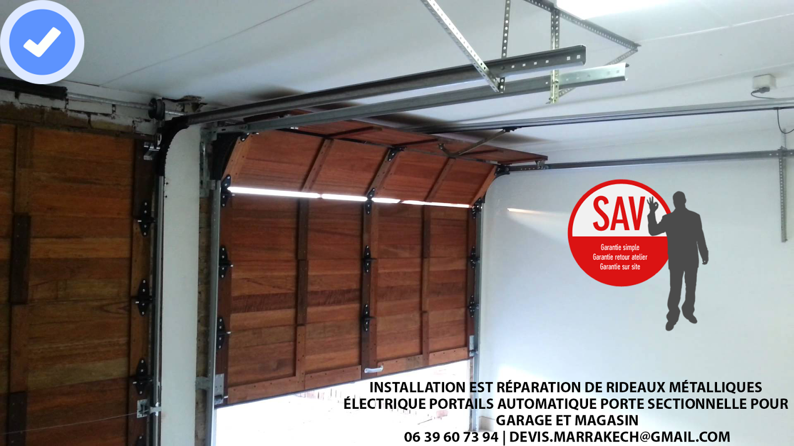 Installation est r paration de rideaux m talliques for Installation porte de garage nice