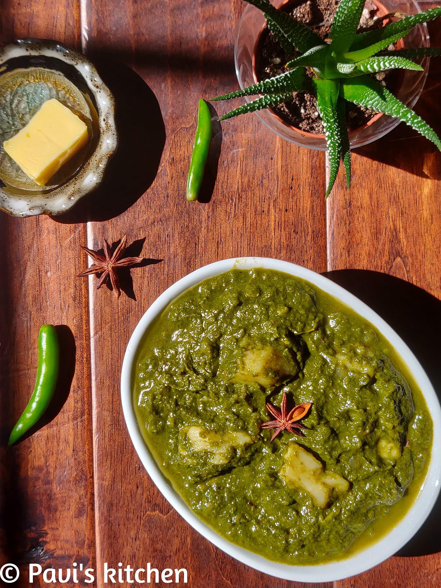 Aloo palak gravy recipe | Punjabi Palak aloo gravy | Spinach potato curry recipe