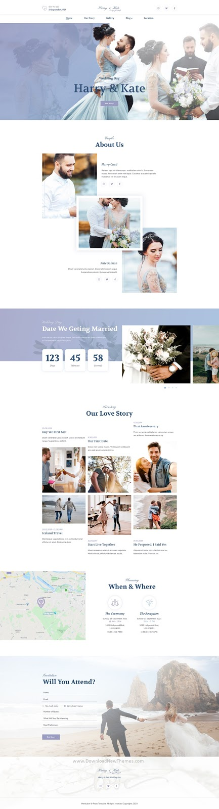 Wedding Template for Sketch