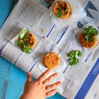 Pastéis de lentilhas com alho