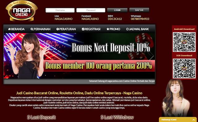 Situs Live Casino Online Indonesia Terpercaya - Naga Casino