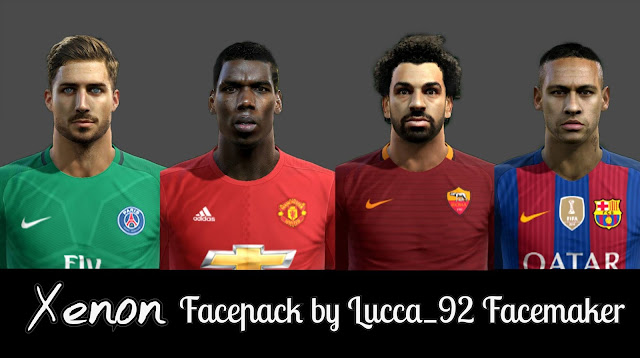 pes 2013 Xenon Facepack by Lucca_92 Facemaker