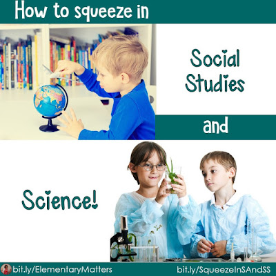 How to Squeeze in Science and Social Studies: Suggestions for primary grades to fit these important (and fun) subjects into the day with an overscheduled classroom.