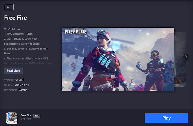 Cara Update Free Fire Gameloop Patch Winterland Desember 2019