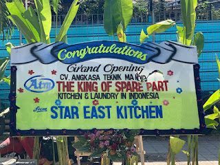 Ucapan selamat dari Star East Kitchen Untuk Spare Part Store - The King Of Spare Part Kitchen & Laundry Equipment in Indonesia