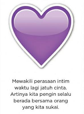 makna berbagai macam emoji heart