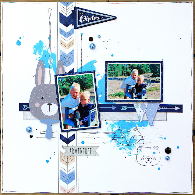 Little Wonders Layout Ulrika Wandler Jul16