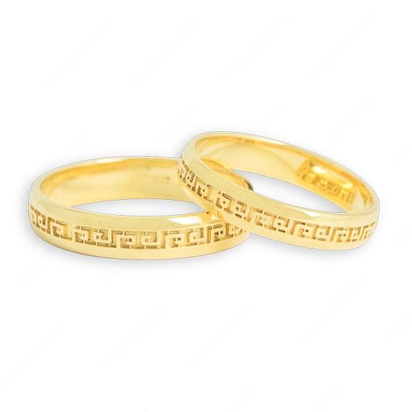 Nhẫn cưới điêu khắc hoa văn gây ấn tượng từ cái nhìn đầu tiên giá chưa đến 5 triệu