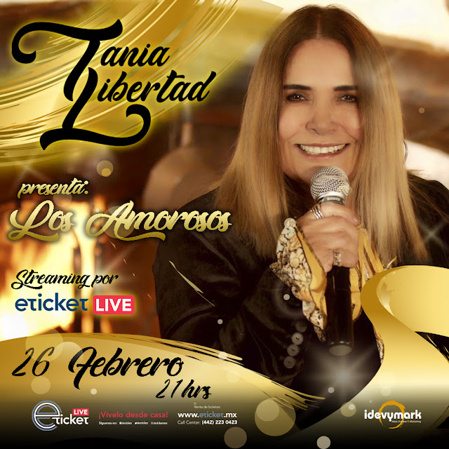 """Tania Libertad llegará al streaming para presentar su show """"Los Amorosos"""""""