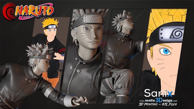 Naruto Uzumaki 3D Model for 3D Printing