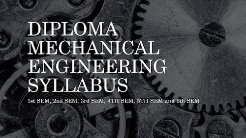 Diploma Mechanical engineering syllabus