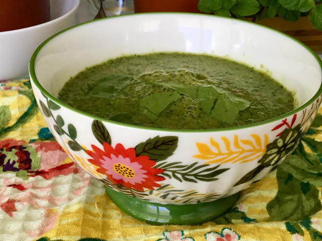 cold spinach soup