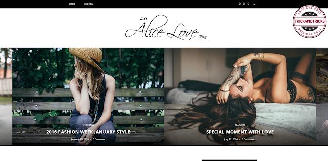 Alice Personal Premium Blogger Template
