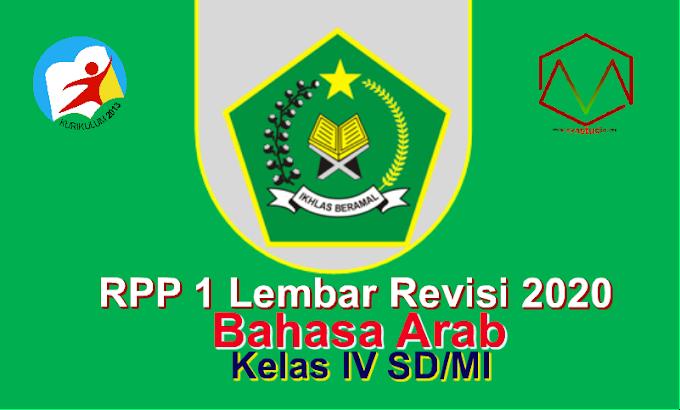 RPP 1 Lembar Bahasa Arab Kelas 4 Semester 1 SD/MI - Kurikulum 2013