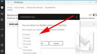 Tips Mematikan Software Antivirus Bitdefender Selamanya