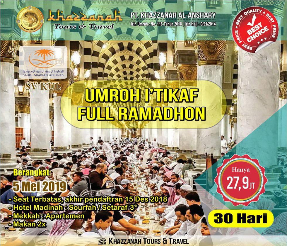 Khazzanah Tour Umroh Full Ramadhan 2019