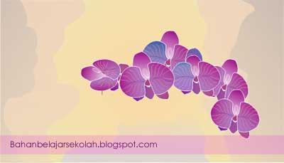 Gambar bunga anggrek dengan corel draw