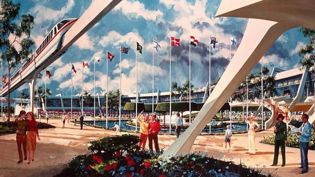 Original World Showcase Design Concept Art Epcot