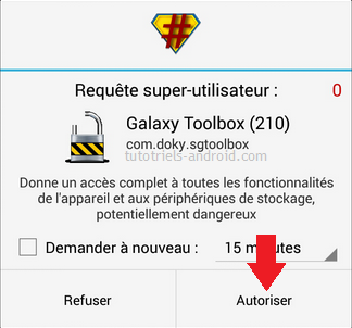 Galaxy Toolbox : autoriser le ROOT