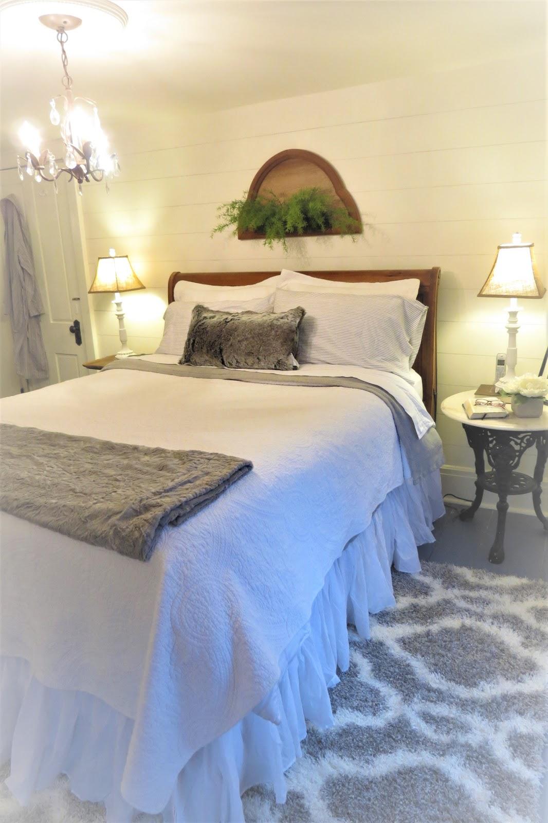 while i linger: antique farmhouse master bedroom