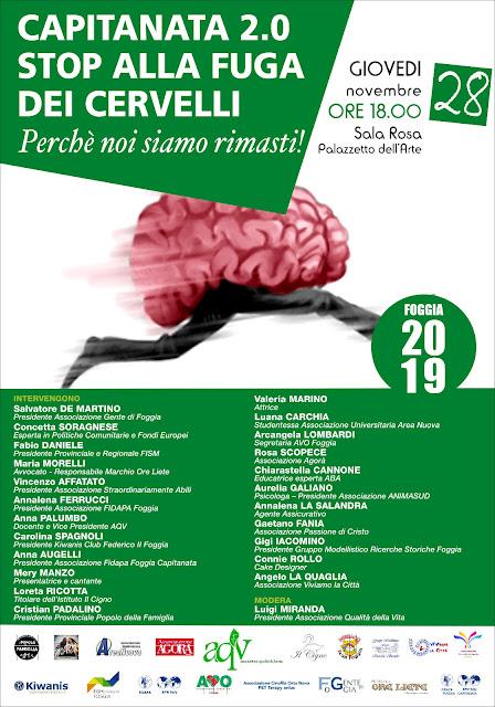 Capitanata 2.0. Stop alla fuga di cervelli. Se ne discute a Foggia il 28 novembre