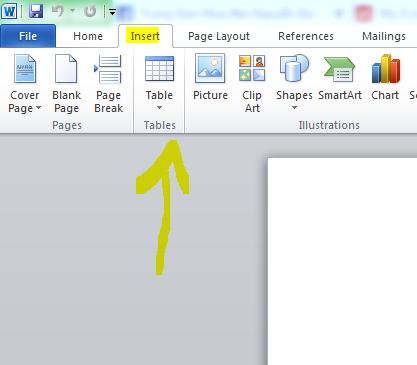 Hướng dẫn tạo bảng table trong word 2010