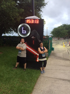 Star Wars 10k running with my husband