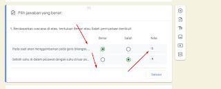 skor kuis google forms