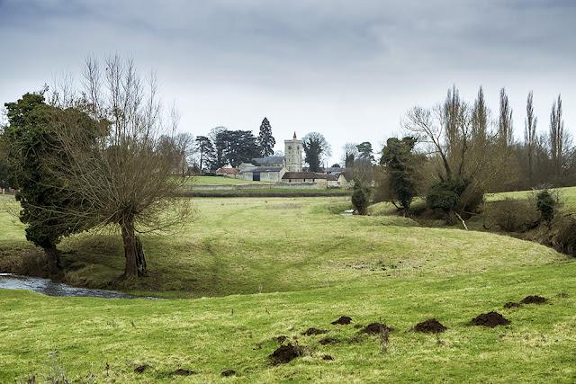 Calverton across the fields