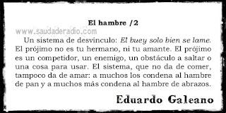 Cuento El hambre/2 de El libro de los abrazos de Eduardo Galeano