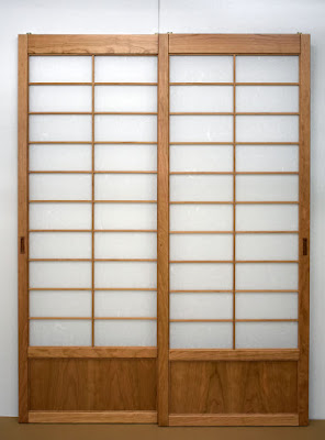 Cherry custom Japanese shoji screens