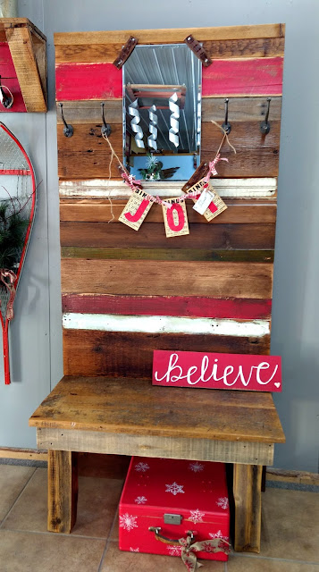 Rustic Reclaimed Wood Hall Tree