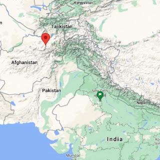 Rabtak Inscription Location in Afghanistan
