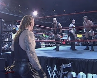 WWE / WWF Insurrextion (2001) - The Undertaker faced Steve Austin and Triple H in a handicap match