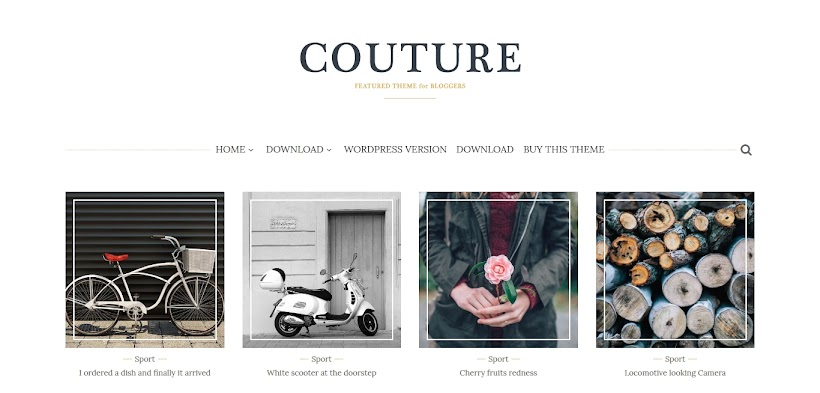 Couture Free Blogger Template